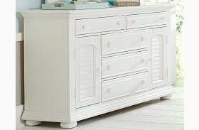 Summer House Oyster White 5 Drawer Dresser