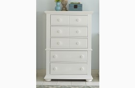 Summer House Oyster White 5 Drawer Chest