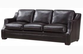 Grandview Espresso Leather Sofa