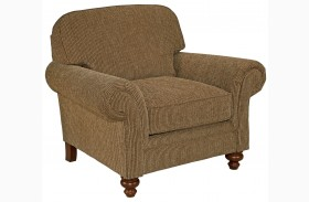 Larissa Cherry Stain Chenille Fabric Chair