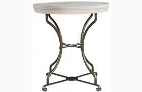 Elan Elm Round End Table