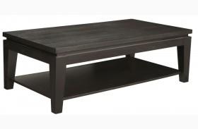 Asia Rectangular Coffee Table With Shelf
