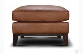Chelsea Honey Roscoe Leather Ottoman