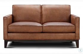 Chelsea Honey Roscoe Leather Loveseat
