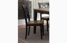 Al Fresco Black Double X Back Side Chair Set of 2