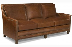 Prescott Brooklyn Saddle Leather Sofa