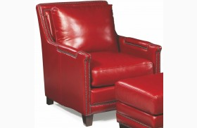 Prescott Supple Red Leather Chair