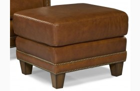 Prescott Brooklyn Saddle Leather Ottoman