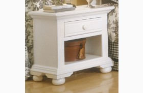 Cottage Traditions White Open Nightstand
