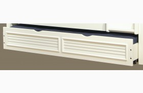 Cottage Traditions White Under-Bed Trundle Unit