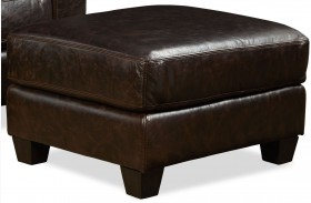 Marin Ravenswood Cocoa Leather Ottoman