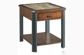 Slaton Warm Mocha Rectangular Drawer End Table