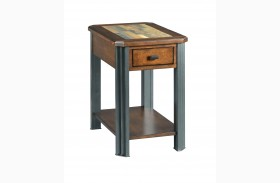 Slaton Warm Mocha Finish Chairside Table
