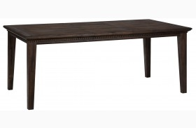 Geneva Hills Rustic Brown Extendable Rectangular Dining Table