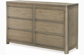 Big Sky by Wendy Bellissimo Weathered Oak 6 Drawer Dresser