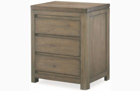 Big Sky by Wendy Bellissimo Weathered Oak 2 Drawer Nightstand