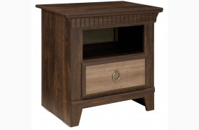 Weatherly Textured Two-Tone Nightstand