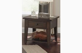 Hearthstone Dark Rustic Oak End Table