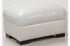 Alpha White Storage Ottoman