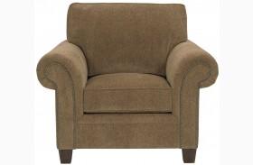 Travis Walnut Chenille Fabric Chair