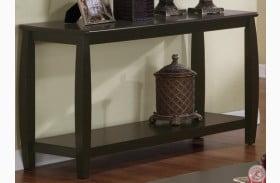 701079 Espresso Sofa Table