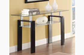 702289 Black Sofa Table