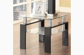 702287 Black End Table