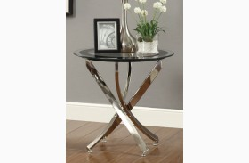 702587 Black/Chrome End Table