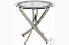 702587 Black and Chrome End Table