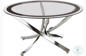 702588 Black and Chrome Coffee Table
