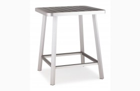 Megapolis Brushed Aluminum Bar Table