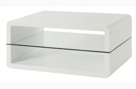 703268 Glossy White Coffee Table