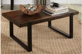 703428 Vintage Brown & Black Coffee Table