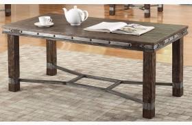 Sandblasted Brown Coffee Table