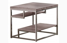 703727 Weathered Grey End Table