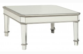 Silver Mirror Panel Coffee Table