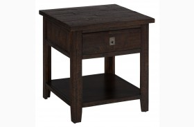 Kona Grove Rustic Chocolate Square End Table