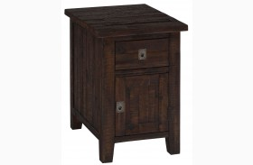 Kona Grove Rustic Chocolate Cabinet Chairside Table