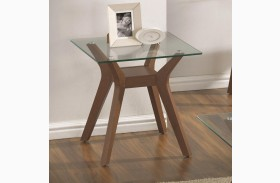 704167 Glass Top End Table