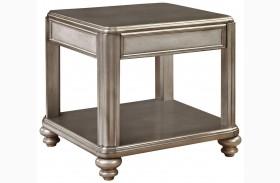 704617 Metallic Platinum End Table