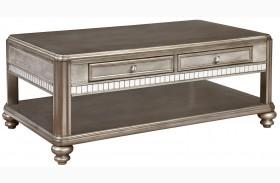 704618 Metallic Platinum Coffee Table