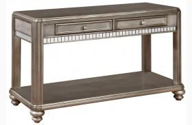 704619 Metallic Platinum Sofa Table