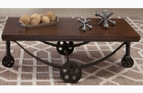 Chestnut and Rustic Bronze Coffee Table