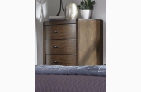 Avalon III Pebble Brown 5 Drawer Chest