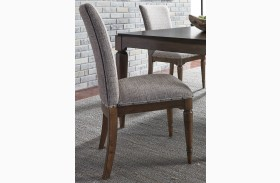 Avalon III Pebble Brown Upholstered Side Chair Set of 2