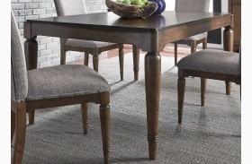 Avalon III Pebble Brown Extendable Rectangular Leg Dining Table