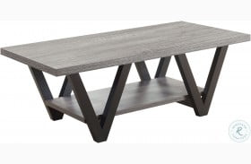705398 Antique Grey and Black Coffee Table