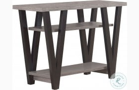 705399 Antique Grey and Black Sofa Table