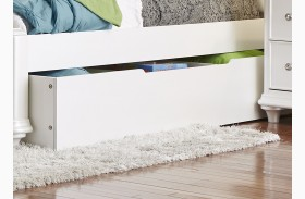 Stardust Iridescent White Trundle Unit