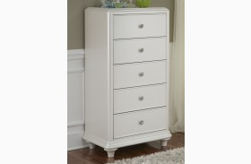 Stardust Iridescent White 5 Drawer Lingerie Chest